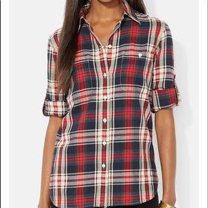 LRL Lauren Jeans Co Plaid Shirt Size 2X
